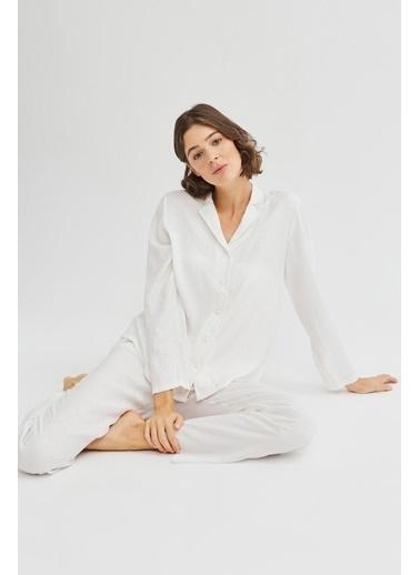 Penti Bridal Blanche Pijama Takımı Beyaz